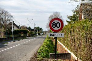 Panneau 80 km/h rappel