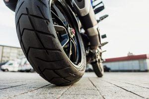 Moto vue arrière
