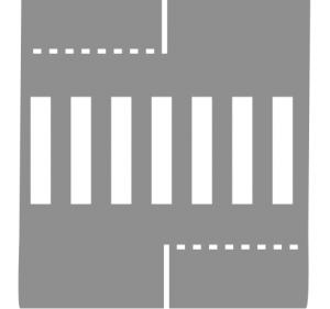 Ligne d'effet passage pour piéton